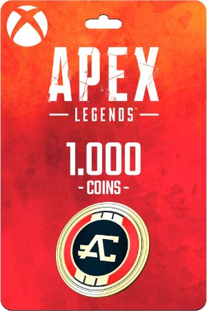 Cartão 1.000 Coins Apex Legends Xbox One - Código Digital