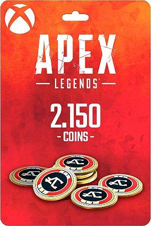 Cartão 2.150 Coins Apex Legends Xbox One - Código Digital