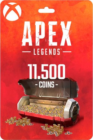 Cartão 11.500 Coins Apex Legends Xbox One - Código Digital