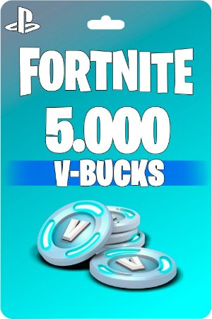 Cartão Fortnite 5.000 V-Bucks PSN PS4 - Código Digital