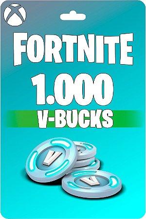 Cartão Fortnite 1.000 V-Bucks XBOX ONE - Código 25 Dígitos Digital