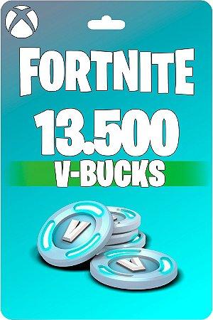 Cartão Fortnite 13.500 V-Bucks XBOX - Código 25 Dígitos Digital