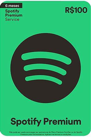 Cartão Spotify Assinatura 6 meses - Brasil - Código Digital