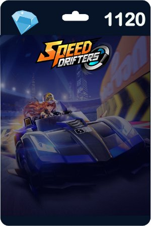 Cartão Garena Speed Drifters 1120 Diamantes - Código Digital
