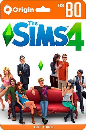 Cartão The Sims 4 Origin R$ 80 Reais - Brasil - Código Digital