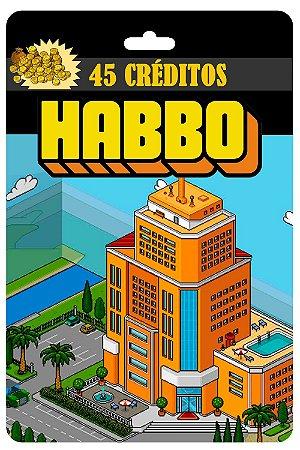 Cartão Habbo R$ 15 Reais 45 Créditos - Código Digital