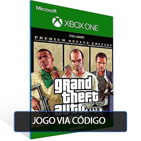 GTA V: Premium Online Edition  - XBOX - CÓDIGO 25  DÍGITOS BRASILEIRO