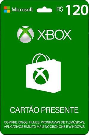 Cartão Presente Xbox R$ 120 Reais Brasil Gift Card - Código Digital