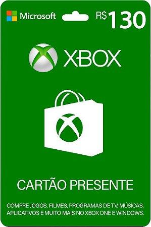 Cartão Presente Xbox R$ 130 Reais Brasil Gift Card - Código Digital