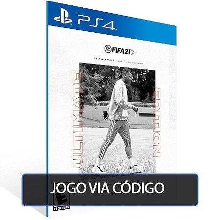 FIFA 21 Edição Ultimate PS4 - CÓDIGO 12  DÍGITOS BRASILEIRO