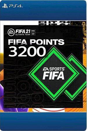 FIFA 21- 3200 Fifa points -  Playstation Brasil PS4 - Código 12 Dígitos Digital