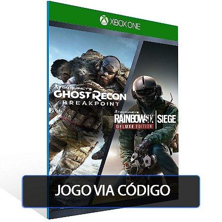 Pacote Tom Clancy's Rainbow Six Siege e Tom Clancy's Ghost Recon Breakpoint- Código 25 dígitos - Xbox One