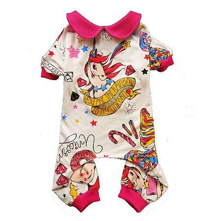 Pijama Pet Unicórnio