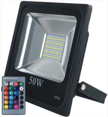 REFLETOR LED RGB SMD 50W SMD IP66 BIVOLT