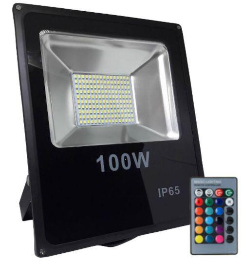 REFLETOR LED RGB SMD IP66 100W BIVOLT