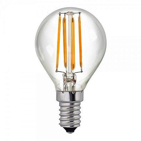 Lâmpada LED Filamento Vintage Retrô G45 4W Âmbar E27 Bivolt