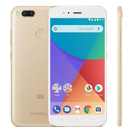"Xiaomi Smartphone MI A1- 64GB / 4GB Ram / 5.5"" / Cam 12MP / Octa-Core - Dourado"