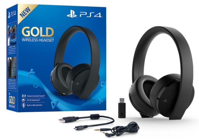 Headset Sony New Gold Wireless 7.1