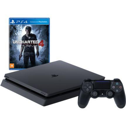 Sony Playstation 4 Slim 500gb + Uncharted 4