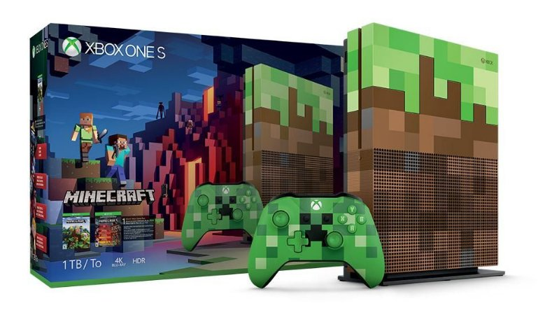 Console Xbox One S Minecraft Edition 1TB