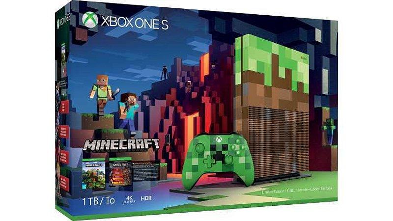 Console Xbox One S Minecraft Edition 1TB