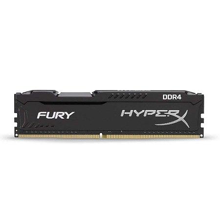 Memória RAM HyperX Fury / DDR4 / 8GB / 2400hz / Preta