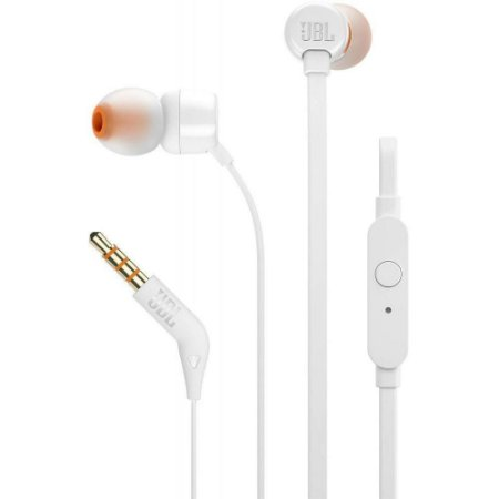 Fone de Ouvido Intra Auricular JBL T110 Branco - ORIGINAL!