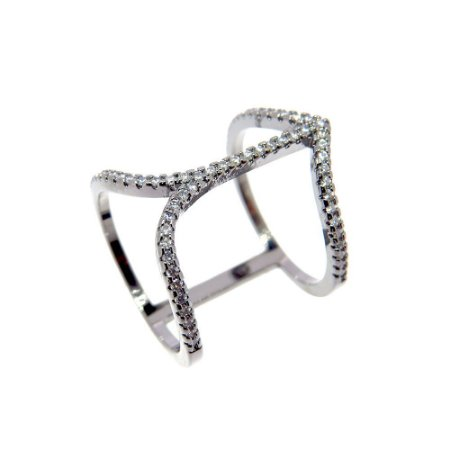Anel Semijoia Cupido Cravejado Zircônias Diamond Folheado Ródio Negro AN061