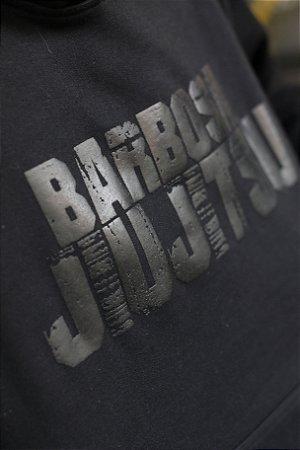 Moletom Canguru Barbosa Jiu Jitsu em Silk - Preto