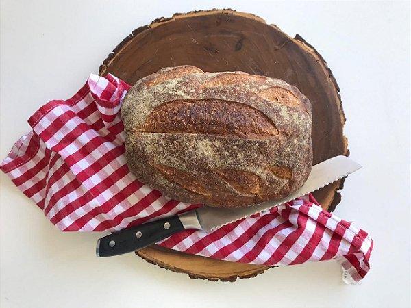 Pão Artesanal Rústico Orgânico (PurusPanis) - 500g