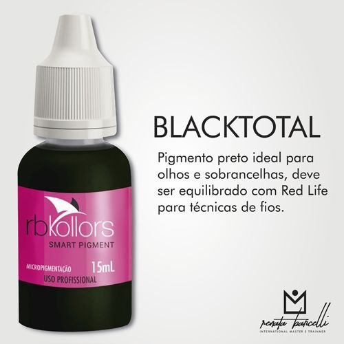 Pigmento Rb Kollors Total Black 15ml