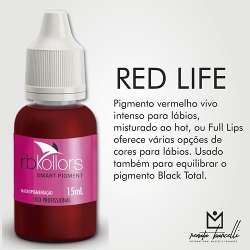 Pigmento Rb Kollors Red Life 15ml