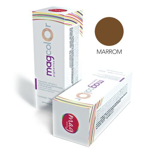 Pigmento Mag Color Marrom 15ml