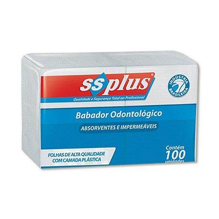 Babador Descartável Branco Ssplus 100 Und