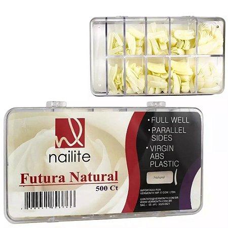 Tips Nailite Mix Tamanhos  - Cor Natural - 500 Und