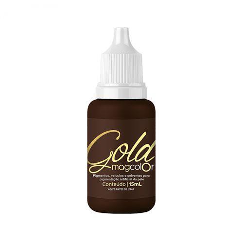 Pigmento Mag Color Gold Castanho Médio 5 ml / 15 ml