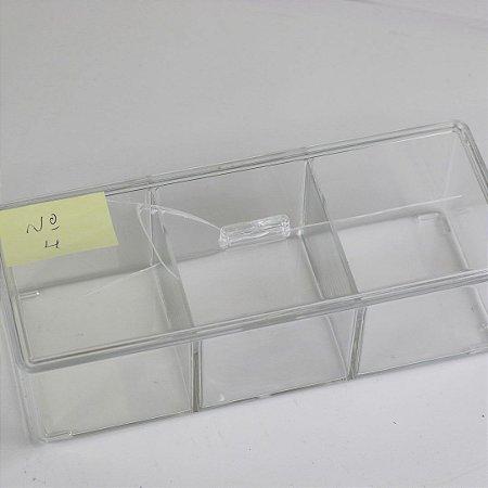 Organizador Acrílico com Divisória Tripla 23 x 9 x 8,5 cm (nº4)