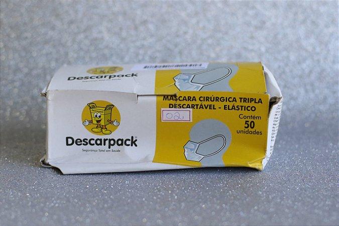 Máscara Descartável (50UN) Branca CAIXA AMASSADA (Nº2)