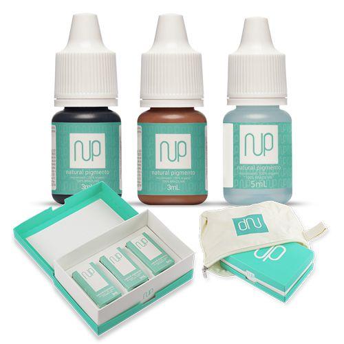 Kit Sobrancelha Capilar Escura Natural Pigmentos