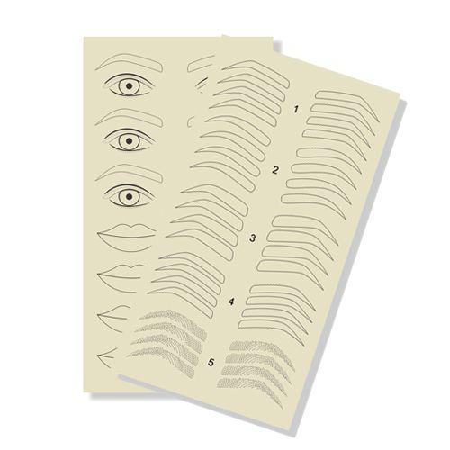 Pele Sintética 30cm Treino Sobrancelhas Olhos e Boca