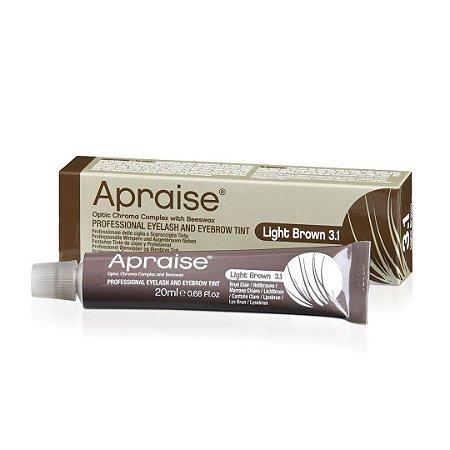 Tintura Apraise Light Brown 3.1 Sobrancelhas, Cílios e Barba 20 ml