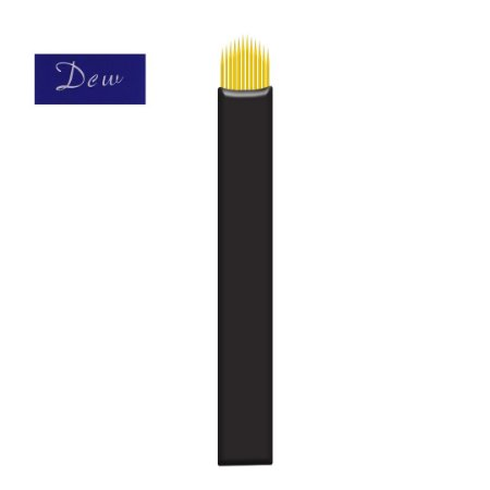 """Lâmina Flex U (Micro) 0,18mm """"DCW"""" Banhada a Ouro"""