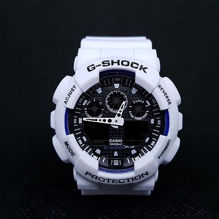8759a81c9be RELÓGIO CASIO G-SHOCK MASCULINO GA-110 BRANCO - Worl Of Men store