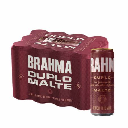 BRAHMA DUPLO MALTE lata 350ml (caixa c/12)