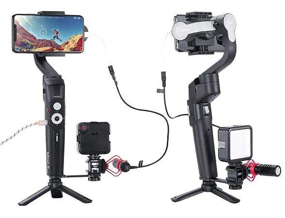 MOZA MINI-S 3 Eixo Dobrável Pocket Handheld Cardan Cardan Estabilizador para iPhone X Smartphone GoPro - Preto Entrega em 25 Dias Uteis