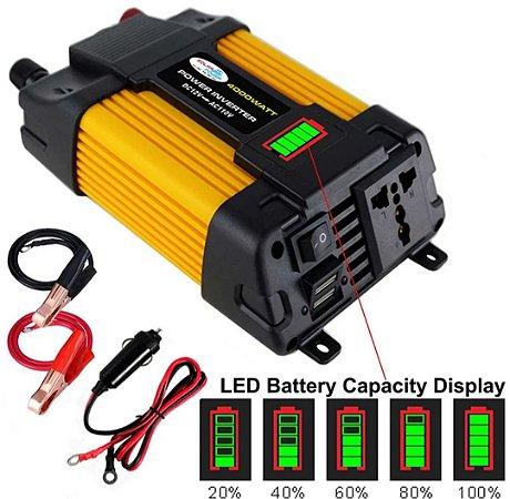 Conversor de voltagem para carro transformador conversor