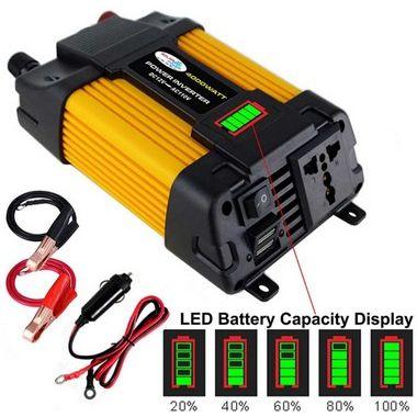 Conversor de voltagem para carro transformador conversor 12v a 110v/220v