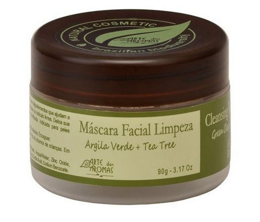 Máscara Facial - Argila Verde + Tea Tree 90g - Arte dos Aromas