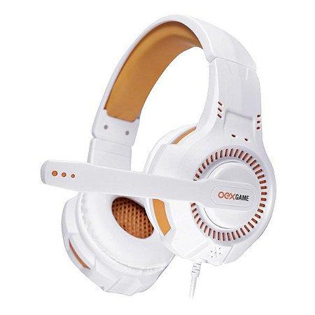Headset gamer oex Gorky HS413 branco/laranja (48.8306)