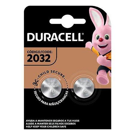 Bateria Lithium 3V CR 2032 Duracell (Blister com 2)